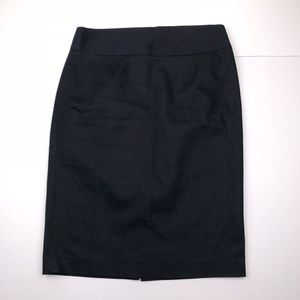 Chelsea & Theodore Size 8 Black Straight Skirt